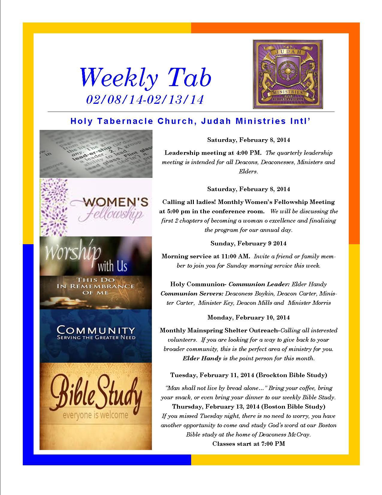 Weekly Tab 02.08.14
